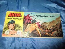 Comics  ca. 1958 : AKIM - Neue Abenteuer Nr. 77 , Original Lehning Piccolo Comic