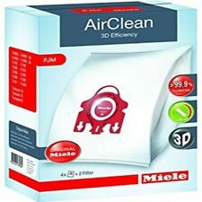 Miele FJM Vacuum Cleaner Airclean Bags 4 Bags 2 Filters Red Collar Genuine
