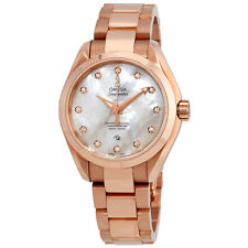 Omega Seamaster Aqua Terra Ladies 18 Carat Rose Gold Watch 231.50.34.20.55.001