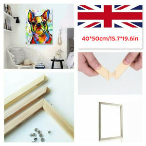 Canvas Stretcher Bars Frames Wooden Strips Kit DIY Oil Painting Art Gallery 50CM