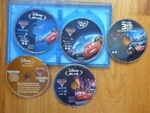 CARS 2 5-Disc Blu-ray 2D + Blu-ray 3D + DVD + Bonus Disney Pixar