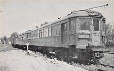 WESTPORT INDIANA RAILWAY MUSEUM NORTH SHOE CAR NUMBER 260 ETCH TONE  POSTCARD
