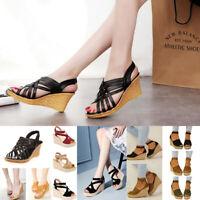 Women's High Heels Ankle Strap Platform Summer Sandal Slipper Casual Shoes Size