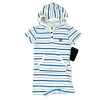 New Baby Boys Hurley Hooded Su Romper Surf /& Enjoy, Shark! Blue - Size 0-3 mo