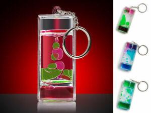 Liquid Motion Keychain Spiral Timer  Key Ring Stress Relief Kids Stocking Filler