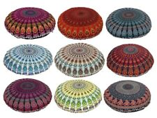 "Large 32"" Floor Mandala Pillow Cushion Indian Round Bohemian Throw Pouf Cover"