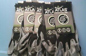 Atlas Showa 370 Premium Black Nitrile Gloves | 12 Pack |Size M