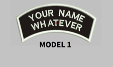 CURVE CUSTOM EMBROIDERED NAME TAG Sew on patch Quality Badge  two rows