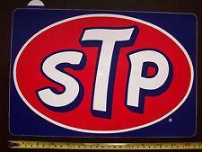 Aceites de STP 1970s Vintage Muy Grande decal sticker tienda signo no Esmalte Coleccionable