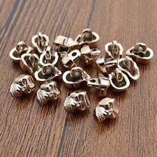 20pcs Skull Skeleton Buttons Sewing DIY Jeans Bag Buttons Rose Gold Black