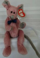 Ty Beanie Baby Beanies Babies Cromwell Pink Mouse Attic Treasures Tag & Cover