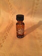 Vintage Coty Wild Musk Oil .5 Fl Oz Amber Bottle Perfume Full