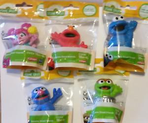 ~Sesame Street Friends 3in~ Set of 5~ELMO, ABBY, GROVER, COOKIE MONSTER & OSCAR
