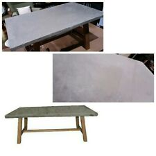CONCRETE FINISH TOP DINING TABLE