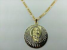 Saint Jude  Pendant  charm  with  figaro Chain.Medalla de San judas Tadeo Dije