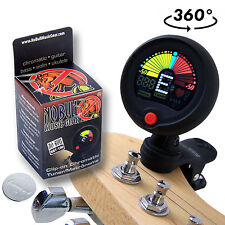 Clip-on Chromatic Tuner & Metronome: Acoustic/Electric Guitar Bass Ukulele Banjo