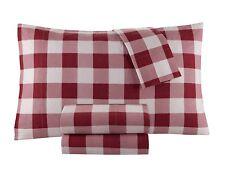 Flannel Sheet Set by DELANNA 100% Cotton Buffalo Check Queen