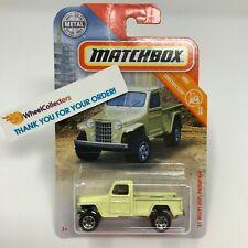 '51 Willys Jeep Pickup 4x4 * Yellow * 2019 Matchbox Case Q * D41