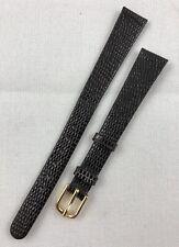 Kreisler Lizard Grain Calfskin 13mm Brown Non-Stitch Leather Long Watchband W155