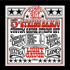 Ernie Ball 5-string Banjo Light Stainless Steel   Loop End Set  .009 - .020w