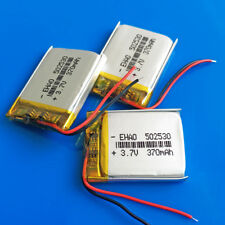 3 PEZZI 370 mAh 3.7 V Batteria Ricaricabile Li Po per MP3 MP4 GPS Smart watch 502530