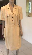 Escada  Margaretha Ley Khaki/ Beige  Safari Look Dress Size 44