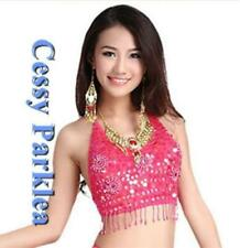 B4-3 Handmade Adult Belly Dance Beaded Sequins Top Dancing Costume 9 colours