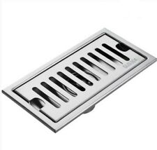 Square Bathroom Toilet Shower Floor Drain Stainless Steel 304 Brushed Nickel NEW