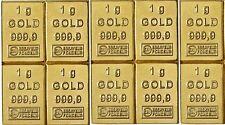 10 Gramm Gold Goldbarren 10 x 1 g - CombiBar Valcambi Schweiz Anlagegold