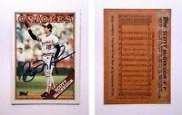 Scott McGregor Signed 1988 Topps #419 Card Baltimore Orioles Auto Autograph