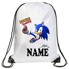 Personalised Kids Sonic Drawstring Bag School, Swimming, PE, Gym, Picnic Custom