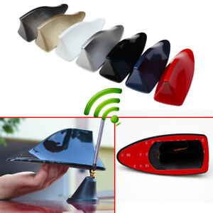 7 Colours Car Roof Radio Shark Signal FM AM Antenna Aerial Amplifier Booster Kit