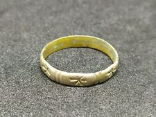 Metal Very Old Carved Handmade Rare Ring Ancient Vintage-Antique Viking Style