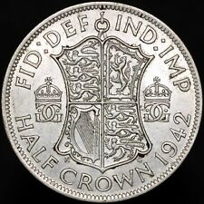 More details for 1942   george vi half-crown   silver   coins   km coins