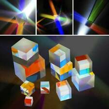 Clear Optical Glass Prism Lens Physics Science Educational Teaching Students S
