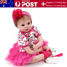 "22"" Reborn Newborn Dolls 55cm Lifelike Baby Girl Doll Silicone Vinyl Toddler Toy"