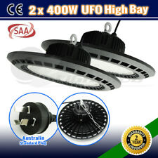 2 x LED HIGH BAY 400W UFO WORK LIGHT WAREHOUSE INDUSTRIAL FACTORY LOFT DOWN LAMP