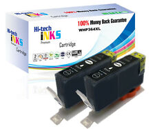 2 Black CHIPPED Generic Ink Cartridge HP364XL for Officejet 4620 4622 NON OEM
