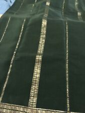 Pure Mysore Silk Silkee Length 5.5 Meters Forest Green Pure Zari Quality