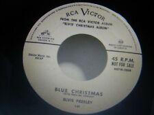 ELVIS PRESLEY RARE ORIGINAL BLUE CHRISTMAS/BLUE CHRISTMAS PROMO 45 1957 NM