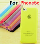 Colorful Ultra Slim 0.3mm Matte Clear Cover Protection Case Shell For iPhone 5C