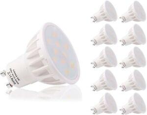 Lohas 6W LED Non-Dimmable GU10 Bulb (Warm White 3000K, 10 Pack)
