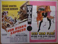 VON RYAN'S EXPRESS / OUR MAN FLINT (1966) - original UK quad film/movie poster