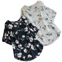 Women Plus Size Floral Short Sleeve Blouse T Shirt Summer Casual Baggy Tee Tops