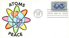 1070 3c Atoms for Peace, Knoble hand painted cachet [11279]