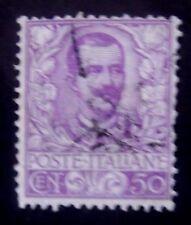 ITALIA - 1901-SG70 50c Malva-USATO