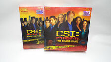 CSI Miami The Board Game & Booster Pack Factory Sealed NIB CBS 2005 Solve Crimes