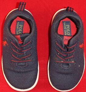 Polo Ralph Lauren - Kids - Kamran II Toddler - Shoes Size 9 - Navy Mesh Red USED