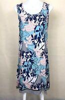 ZEN GARDEN Women's Floral Sleeveless Summer Dress Size Medium