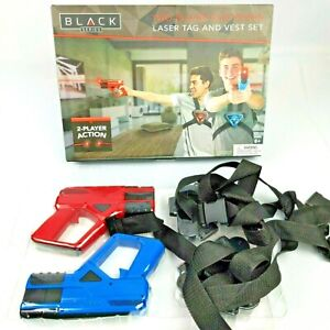 Black Series 2 Player Electronic Laser Tag & Vest Set, Ages 8+, NEW / Open Box